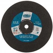 """12"""" x 3/32"""" x 1"""" A36S-BF Type 1 Chop Saw Wheel, For Steel (Max RPM: 5,100)"""