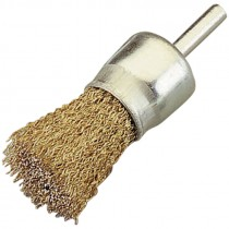 1 IN. COATED STEEL KNOT WIRE END BRUSH.020 WIRE