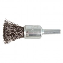 """1"""" Crimped Wire End Brush .014"""" - Carbon Steel"""