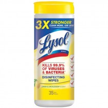 Lysol® Disinfecting Wipes, Lemon Scent, 35 Wipe/Canister