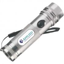 80 Lumen, Aluminum 12-LED Flashlight w/ Applied MSS Logo, (3) AAA Batteries