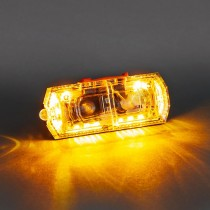 LED FLashing Clip-On Body Alert, Amber Color, Rechargeable
