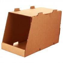 "17-3/4"" x 8-5/8"" x 10-1/2"" Cardboard Bin"