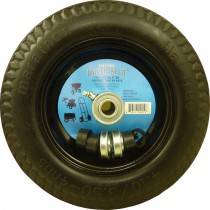 """10"""" x 3"""" Flat Free Universal Replacement Tire for Hand Truck"""