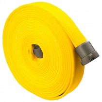 """2-1/2"""" x 50' Double Jacketed 800-Test Fire Hose w/ Aluminum NH (NST) Couplings, Yellow"""