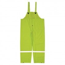 Hi-Vis Green Poly Lined Overall, 3-XL