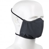 Washable/Reusable Cloth Face Mask with Dual Around-The-Head Elastic Straps, Dark Gray, Universal Size, 3/Pack