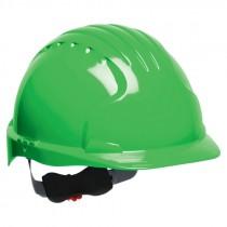 JSP® Hard Hat, Wheel Ratchet Suspension, Green