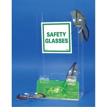 Wall or Table Mount Safety Glass Dispenser