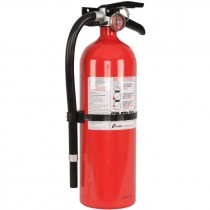 5 lb ABC Fire Extinguisher, Rechargeable, Aluminum Body, Wall Hanger