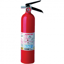 2-1/2 lb ABC Fire Extinguisher, Rechargeable, Aluminum Body,  Wall Hanger Bracket