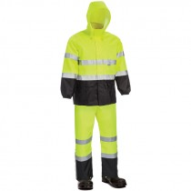 Class 3 Hi-Vis Yellow Economy Rainsuit, X-Large