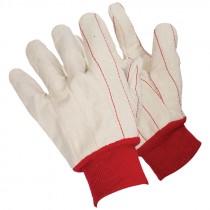 Cotton Canvas Double Palm Knit Wrist Glove, OSFM