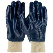 ArmorTuff® Jersey Glove, Knit Wrist, Full Smooth Nitrile Coat, Medium