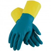 "12"" 28 Mil. Neoprene Over Latex Chemical Glove, Embossed Grip, Flock Lined, 2-XL"