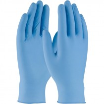 5-Mil Blue Nitrile Disposable Gloves, Powder Free, Medium