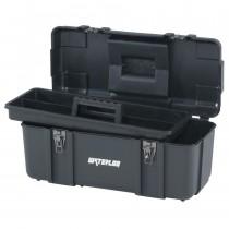 "20"" Plastic Tool Box, Black"