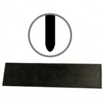 """24"""" Replacement Rubber Blade  for Seal Coat Squeegee - (3"""" Round Edge - Non Tapered)"""