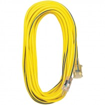 50' 10/3 Yellow Extension Cord w/ Lighted End