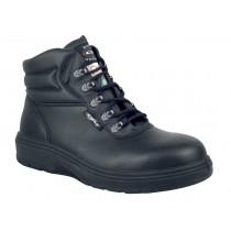 Asphalt Worker's Boot, Composite Toe, Puncture Resistant Plate, Black, Men's Size 9.5