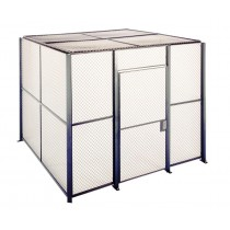 8' x 8' x 8' 4-Sided Wire Mesh Store Room, Without Roof