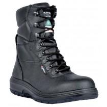 US Road Worker's Boot, Composite Toe, Puncture Resistant Plate, Black, Men's Size 8