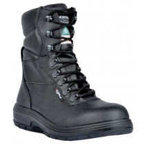 US Road Worker's Boot, Composite Toe, Puncture Resistant Plate, Black, Men's Size 8.5