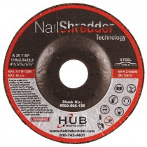 """4-1/2"""" x 3/32"""" x 7/8"""" T27 HUB Nail Shredder Cutting Wheels"""