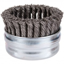 """4"""" x 5/8-11"""" Knot Wire Cup Brush .020 Wire - Stainless Steel"""