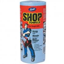 """#75130 10-2/5"""" X 11"""" Scott® Shop Towels - Standard Roll - Blue"""