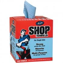 "#75190 10"" X 13"" Scott® Shop Towels - Center Pull Box - Blue"