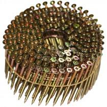 "2-1/4"" x .113"" Zinc-Yellow, Combo-Drive, Flat-Head, 15° Wire-Coil NailScrews®"
