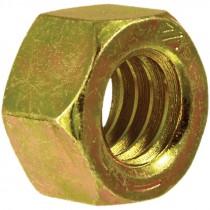 1/4-20 Grade 8 Yellow Zinc Plated Hex Nut