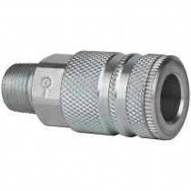 "3/8"" Body x 3/8"" MPT Steel Coupler"