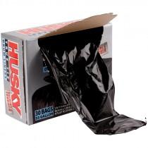 "Husky® Heavy Grade Drum Liner - Black - 35.75"" x 53.8""  1.0 mil"