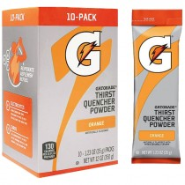 Gatorade® Orange Single Serve Powder Packs (Makes 20 Oz) - Case of 80
