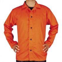 3-XL Orange Cotton Welding Jacket