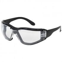 Zenon Z12 Clear Safety Glasses, Black Frame
