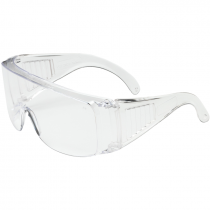 Economy Over The Glass Safety Glasses, Clear Lens, Uncoated