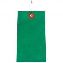 """#5 (4-3/4"""" x 2-3/8"""") Pre-Wired Tyvek Tag - Green"""