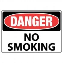 """10"""" x 14"""" Aluminum Danger No Smoking Sign"""