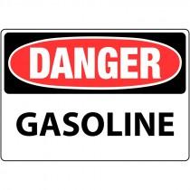 """7"""" x 10"""" Rigid Plastic Danger Gasoline Sign"""