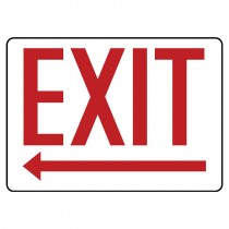 """10"""" x 14"""" Exit Sign with Left Arrow"""