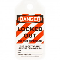 """2"""" x 4""""  Equipment Lockout Tag - Danger Locked Out Do Not Operate - 25 Pack"""
