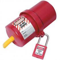 Rotating Large Electrical Plug Lockout, 220-550 Volt Plugs