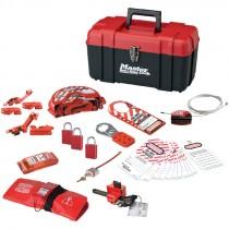 Premium Portable Lockout Kit, For Valve & Electrical Systems, w/ Aluminum Padlocks, Keyed Alike