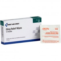 Sting Relief Wipes, Box of 10