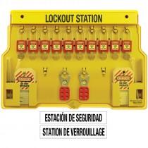 10-Lock Lockout Station, with Zenex™ Thermoplastic Padlocks