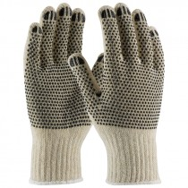 C110PDD-XS X-Small String Knit Gloves PVC Dottted