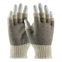 C119PDD-L Fingerless String Knit Gloves PVC Dotted Large